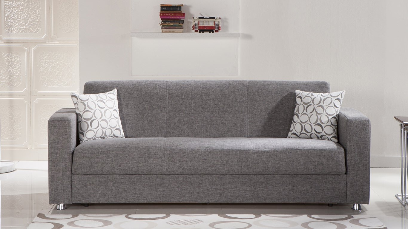 Tokyo Diego Gray Convertible Sofa Bed Sunset With Convertible Sofa Bed (#13 of 15)