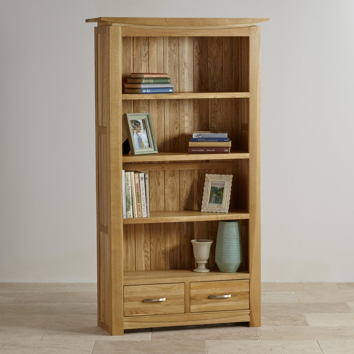 Tokyo Natural Solid Oak Bookcase Living Room Furniture With Solid Oak Bookcase (View 8 of 15)