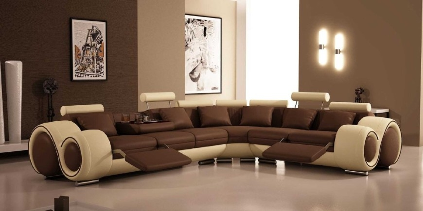Top 10 Best Recliner Sofas 2017 Home Stratosphere Inside Sectional Sofa Recliners (View 11 of 15)