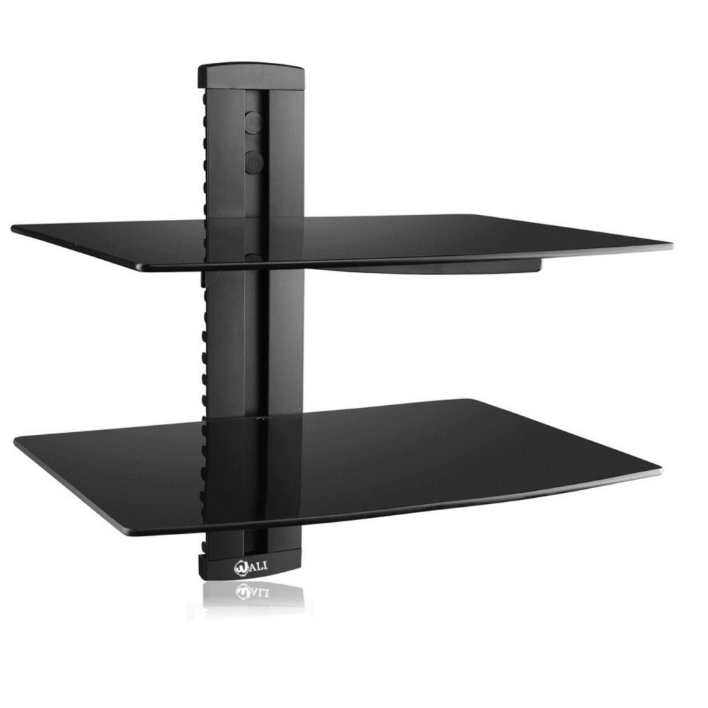 Top 20 Floating Glass Shelves For Interiors Regarding Black Glass Floating Shelf (#12 of 15)