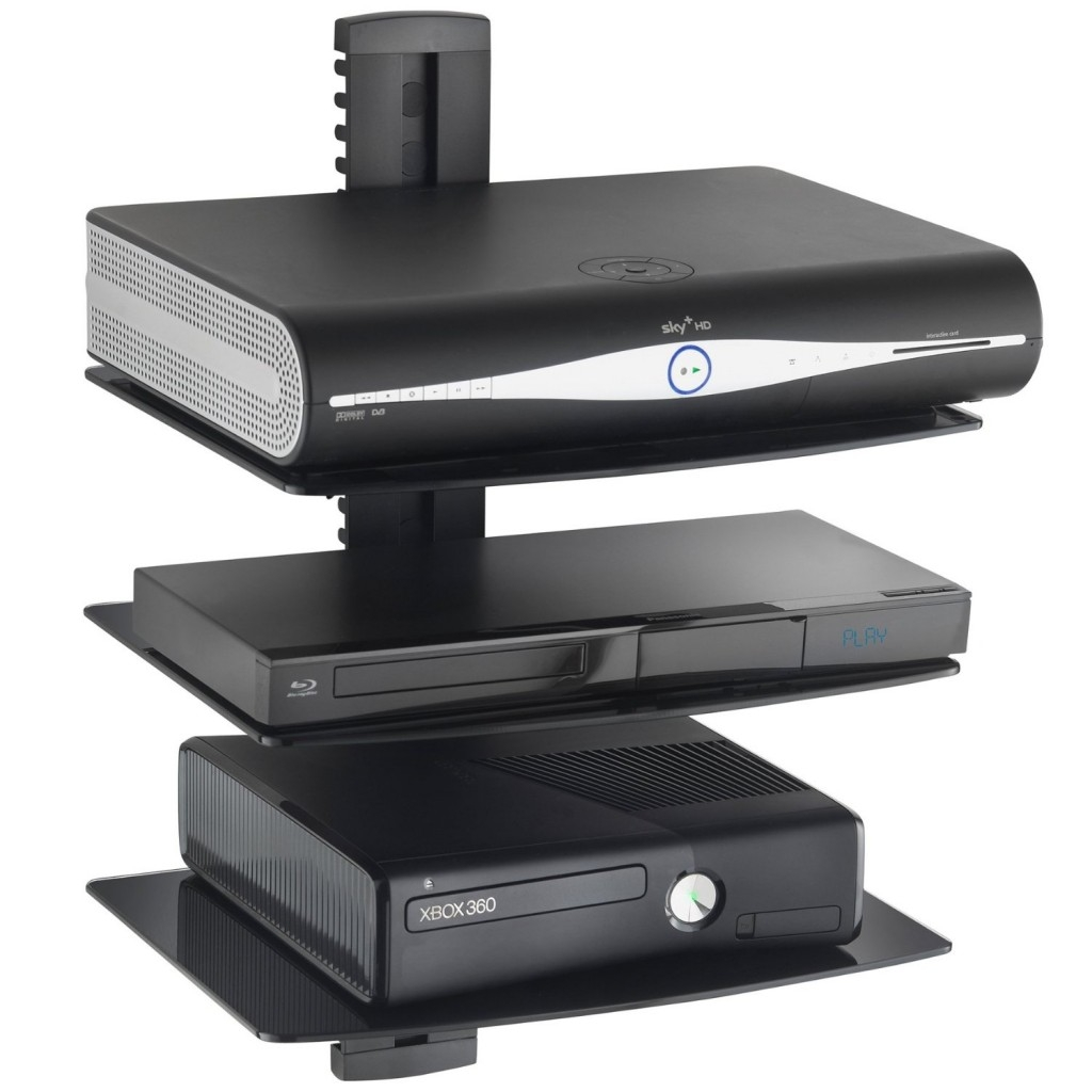 Top 20 Floating Glass Shelves For Interiors Regarding Floating Glass Shelf For Dvd Player (#10 of 12)