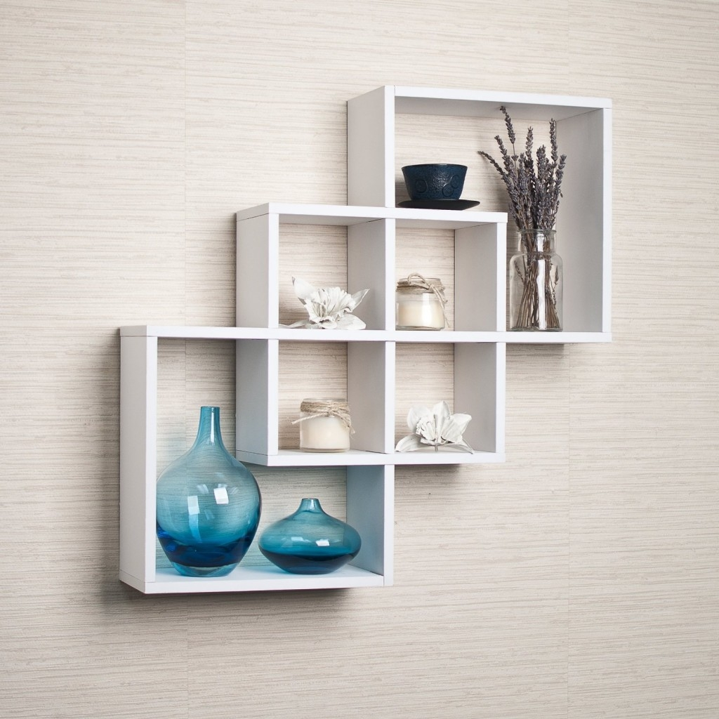 Top 20 White Floating Shelves For Home Interiors Inside White Wall Shelves (View 6 of 15)