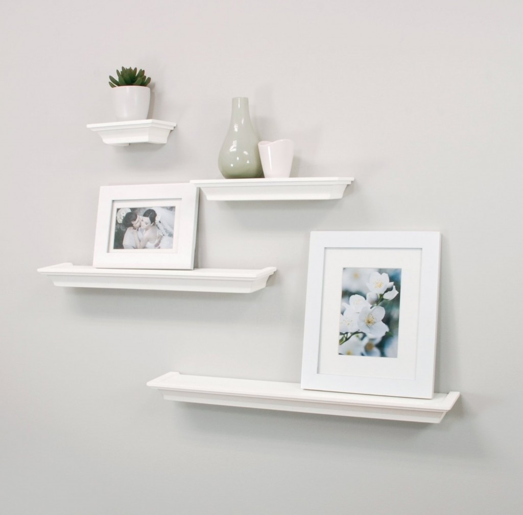 Top 20 White Floating Shelves For Home Interiors Throughout White Wall Shelves (View 8 of 15)