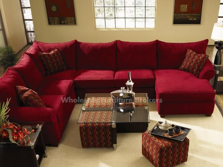 Top 25 Best Red Sectional Sofa Ideas On Pinterest Large Regarding Red Microfiber Sectional Sofas (#14 of 15)
