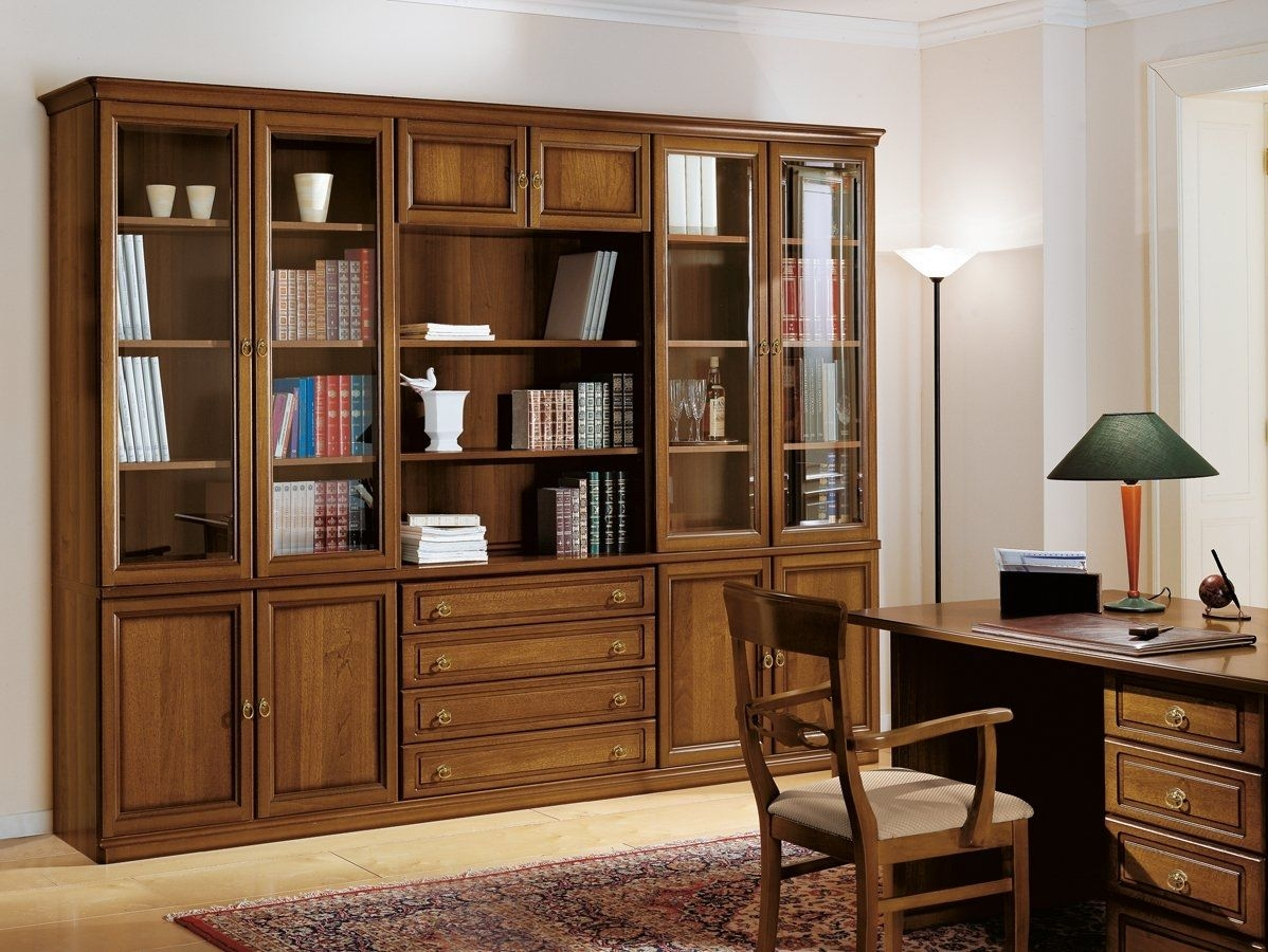 Traditional Bookcase Wooden Glass Front Epoca Tomasella Compas With Regard To Traditional Bookcase (View 14 of 15)