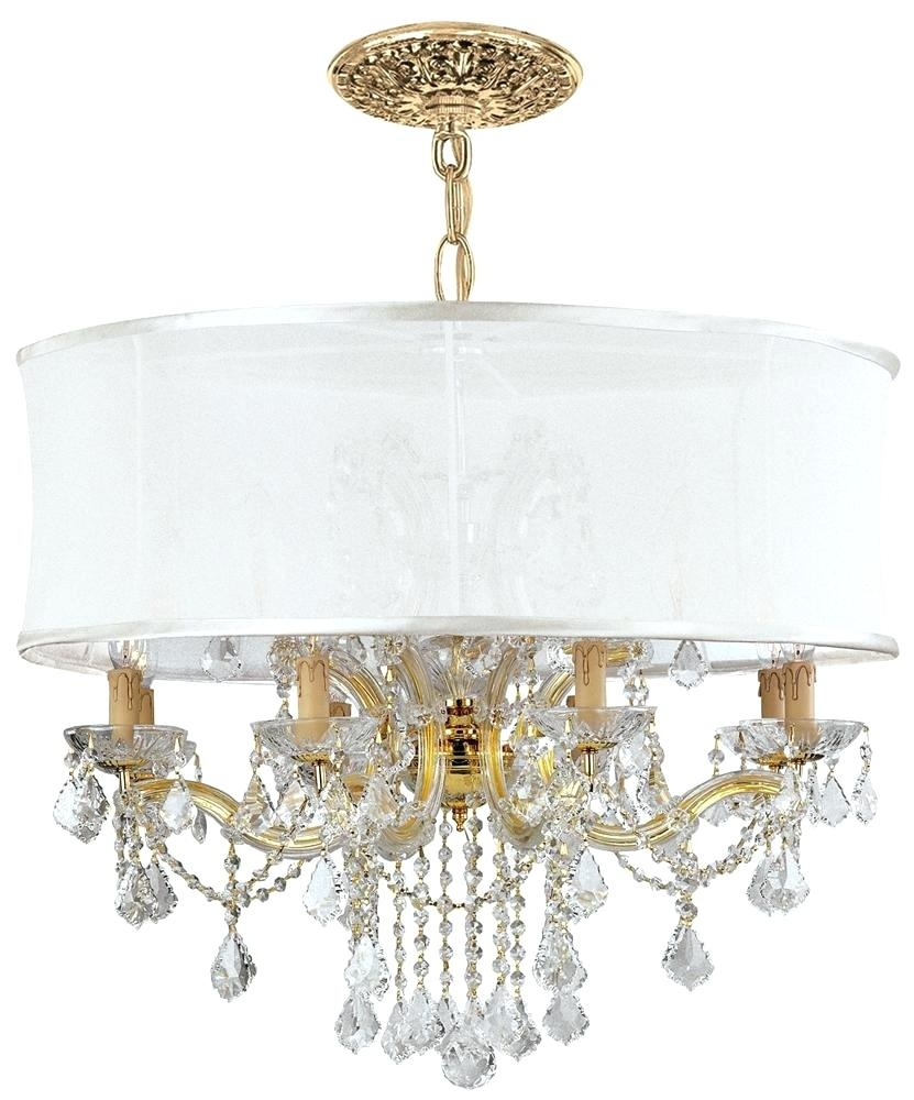Traditional Brass Chandelier 12 Lights Crystal Chandelier W Regarding White Contemporary Chandelier (#11 of 12)