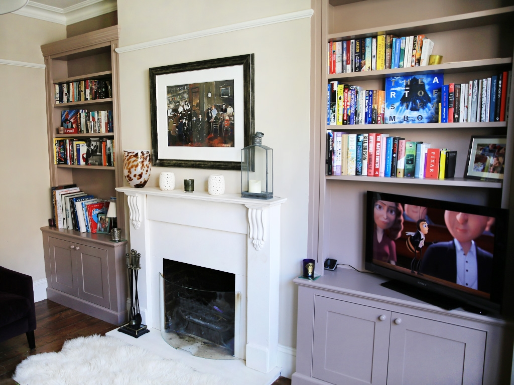 Traditional Built In Alcove Bookshelves Bespoke Furniture Intended For Fitted Book Shelves (#13 of 15)