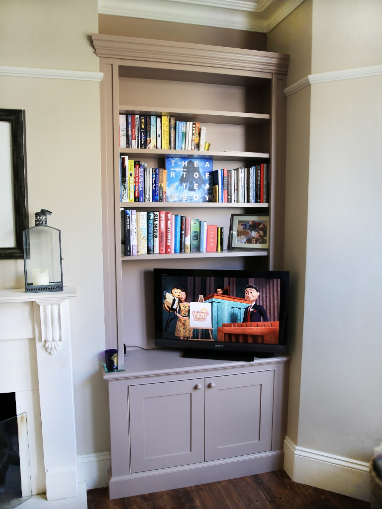Traditional Built In Alcove Bookshelves Bespoke Furniture Throughout Alcove Bookcase (View 5 of 15)
