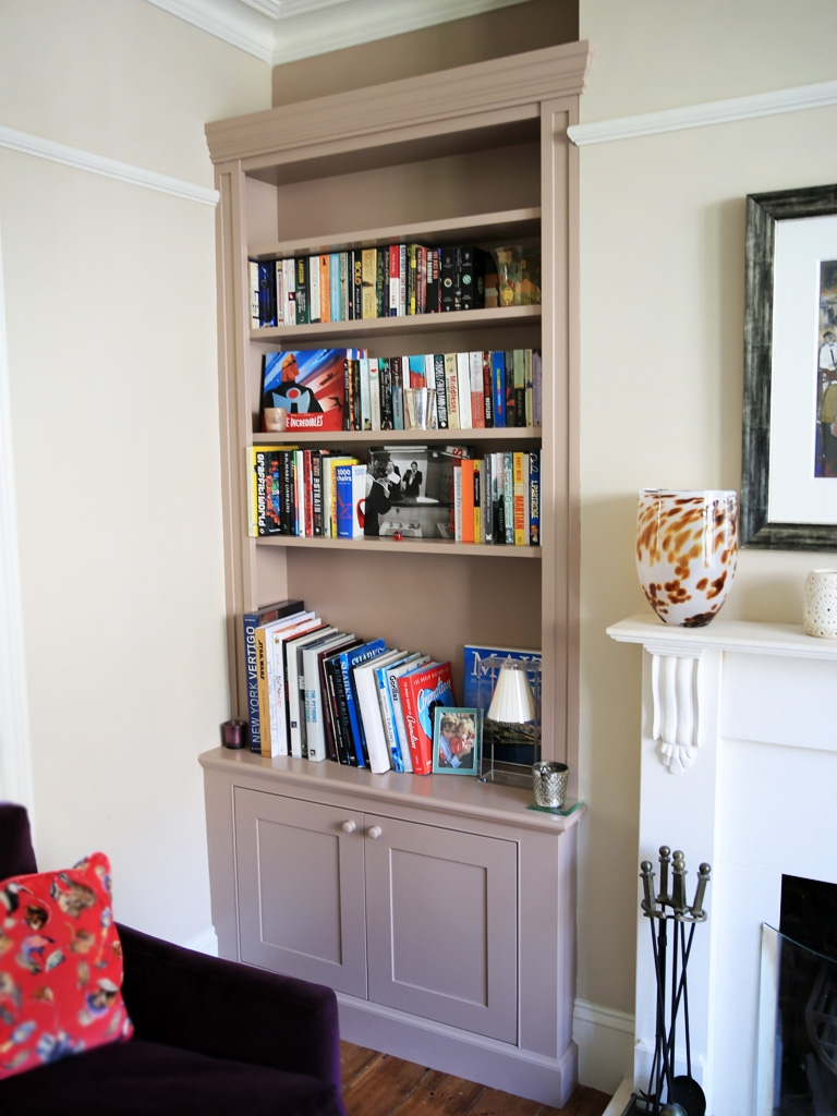 Traditional Built In Alcove Bookshelves Bespoke Furniture Within Alcove Bookcase (View 15 of 15)