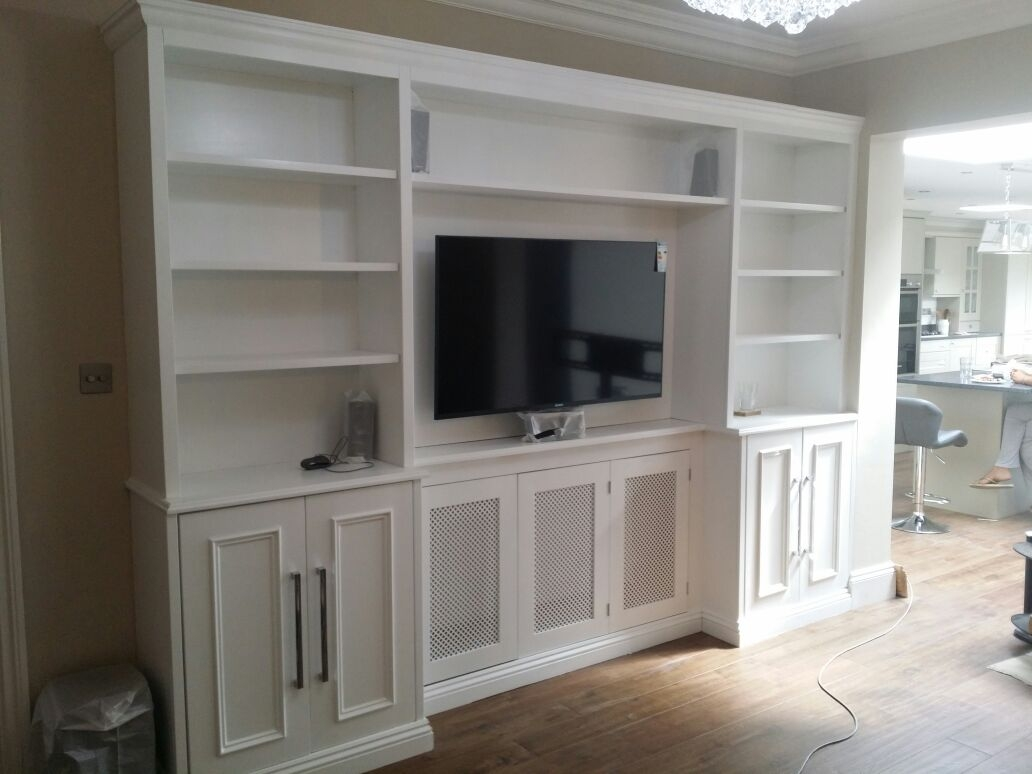 Traditional Cabinets With A Central Radiator Cover And Bookcases With Radiator Covers And Bookcases (Image 15 of 15)