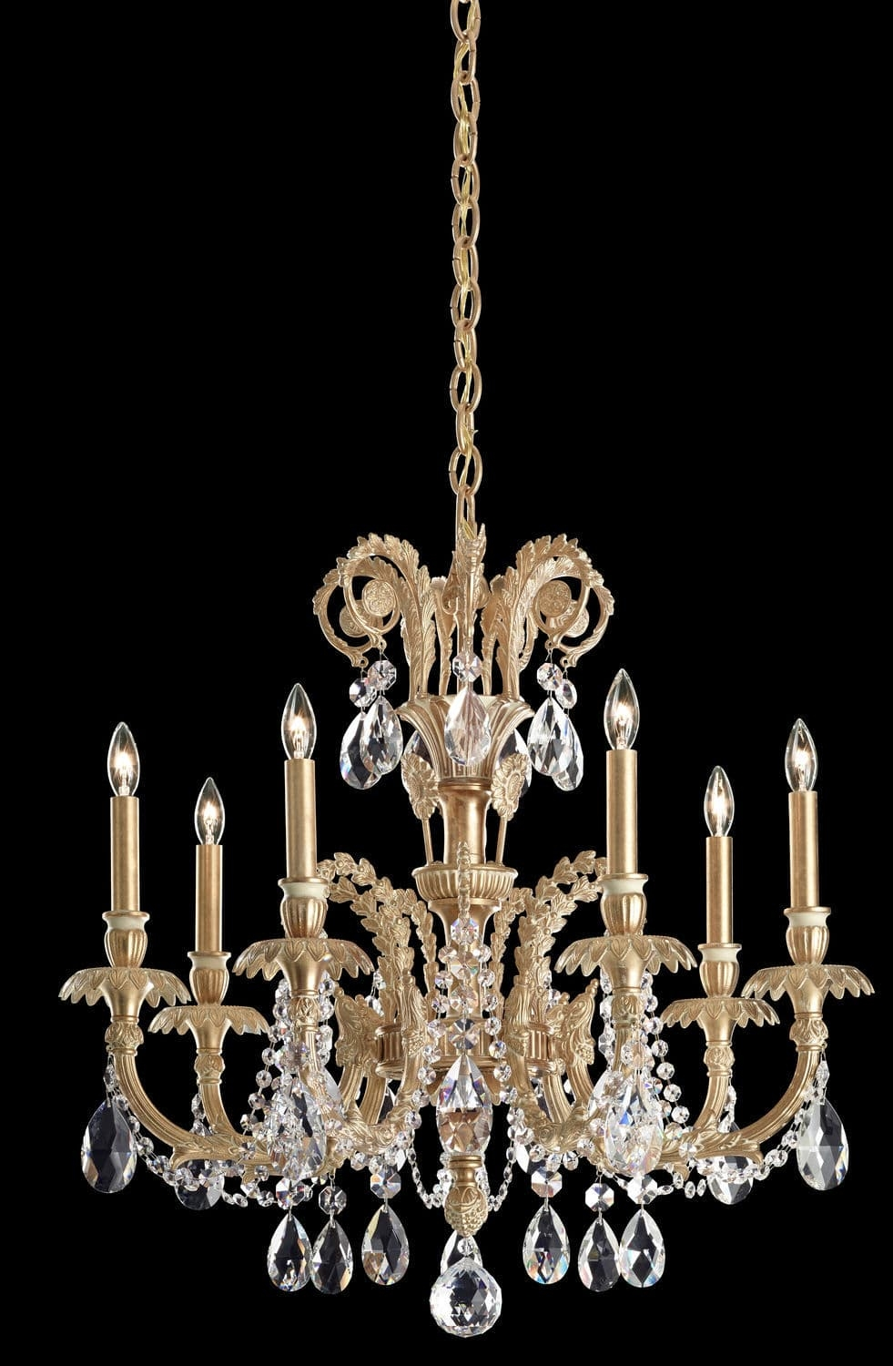 Traditional Chandelier Crystal Cast Iron Led Genzano In Traditional Chandelier (#6 of 12)