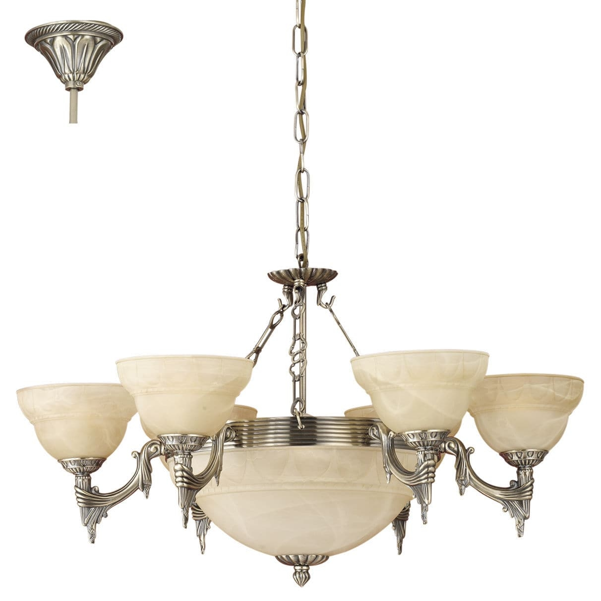 Traditional Chandelier Glass Metal Incandescent Marbella For Traditional Chandelier (#7 of 12)