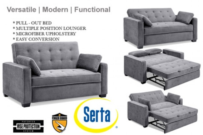 Traditional Couch Futon Augustine Grey Sofa Sleeper The Futon Shop In Sofa Bed Sleepers (#15 of 15)