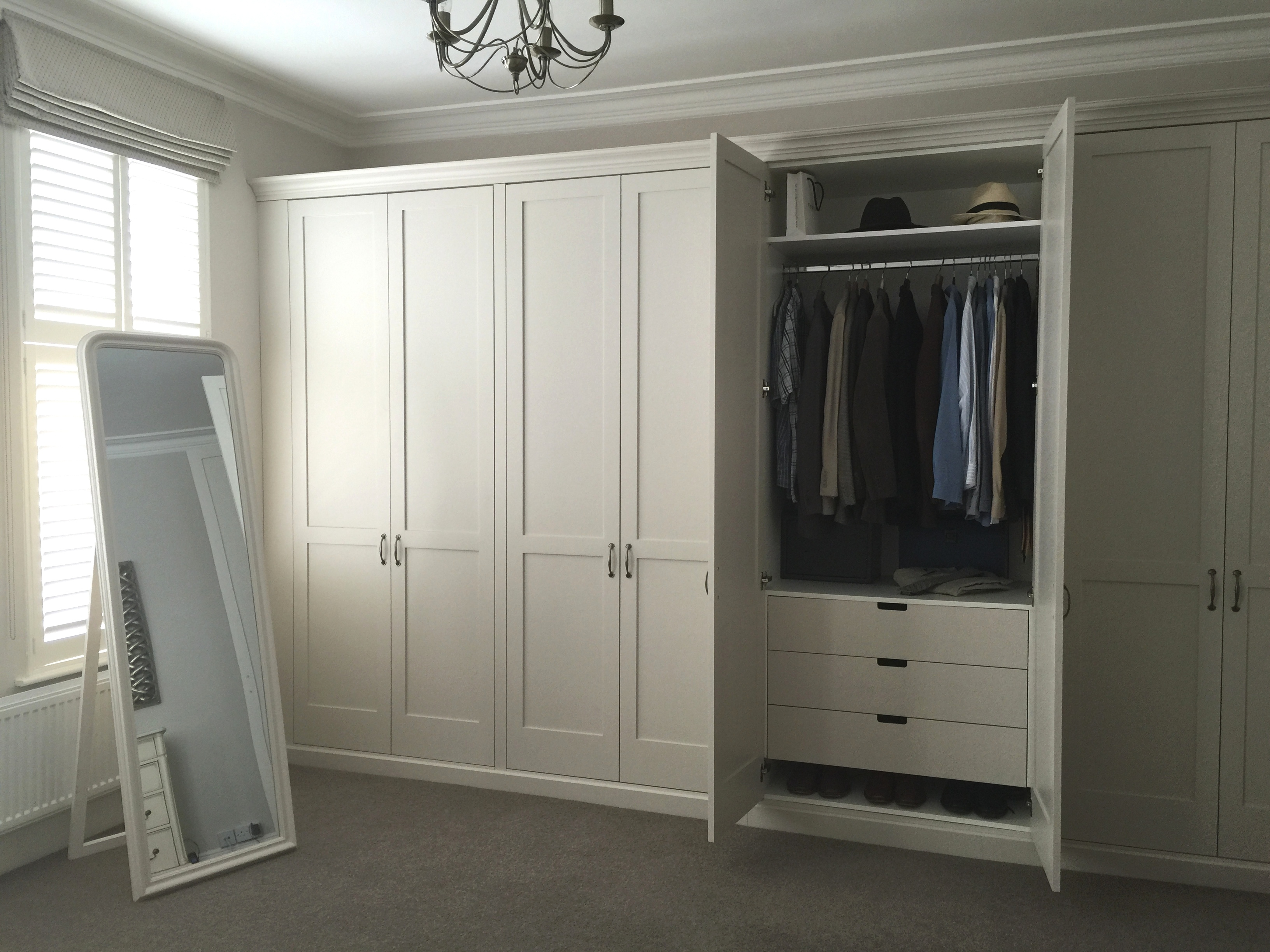 Traditional Shaker Wardrobes With Drawers Inside Shelves And Within Wardrobes With Drawers And Shelves (View 11 of 15)