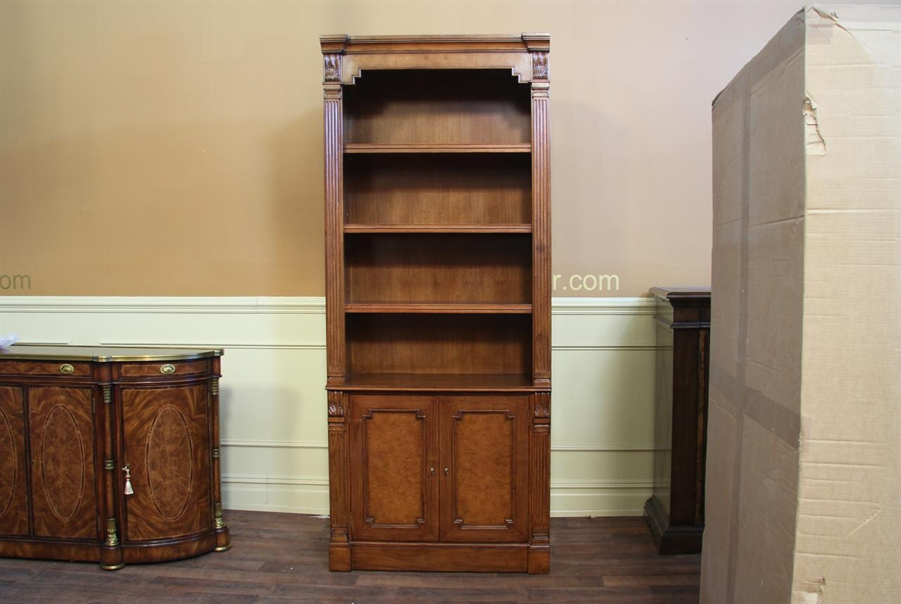 Traditional Walnut Bunching Bookcase A High End Reproduction Within Traditional Bookcase (View 3 of 15)
