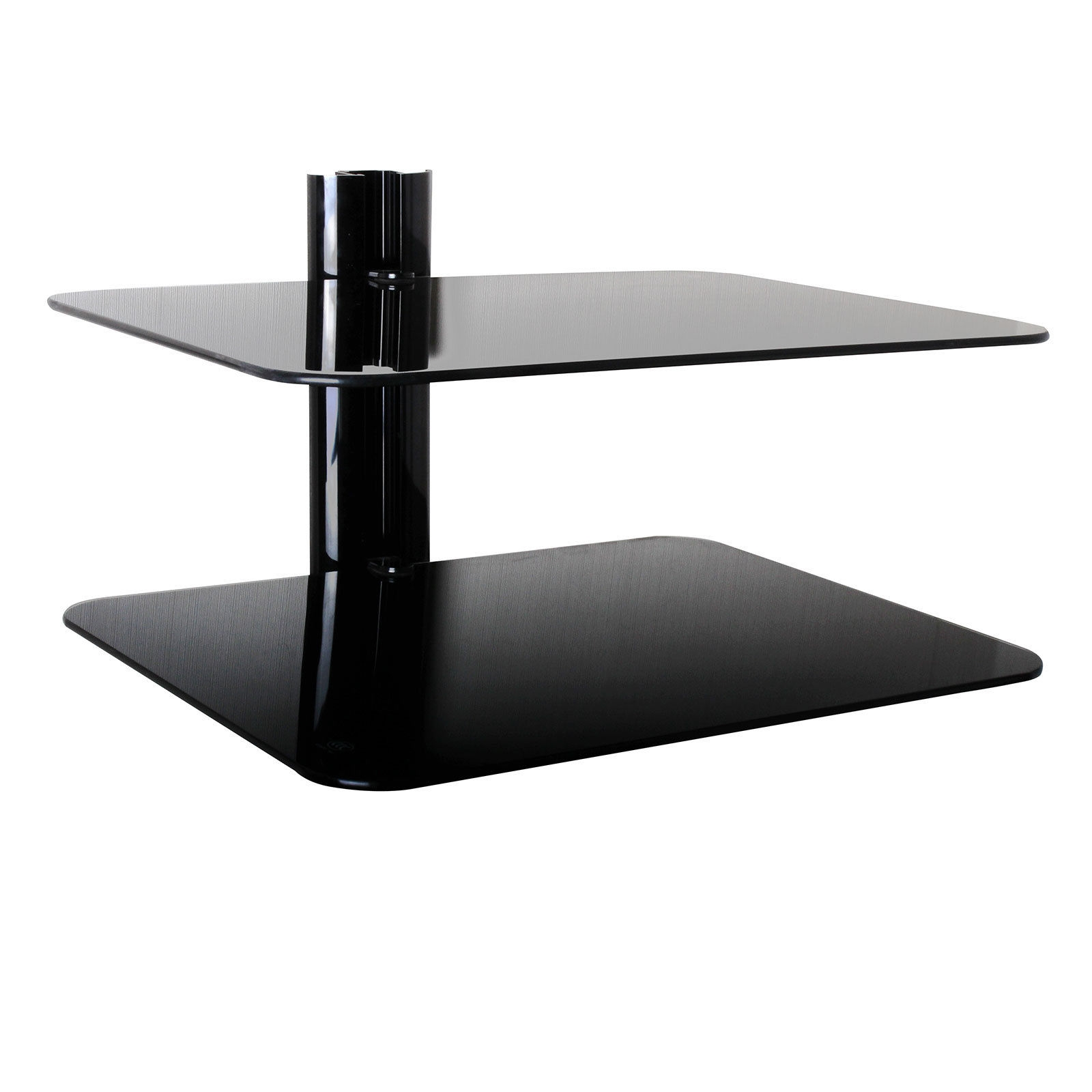 Popular Photo of Wall Mounted Black Glass Shelves