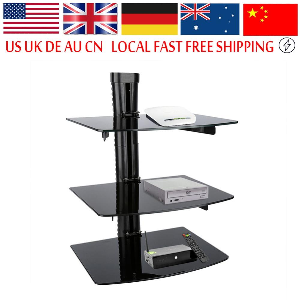 Triple Glass Shelf Promotion Shop For Promotional Triple Glass Regarding Floating Black Glass Shelf (View 9 of 12)