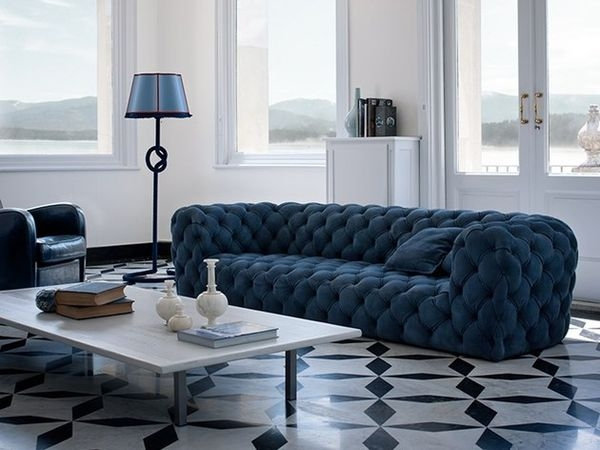 Tufted Blue Sofa Blue Couch Lafayette La Tufted All Images Blue Pertaining To Blue Tufted Sofas (#14 of 15)