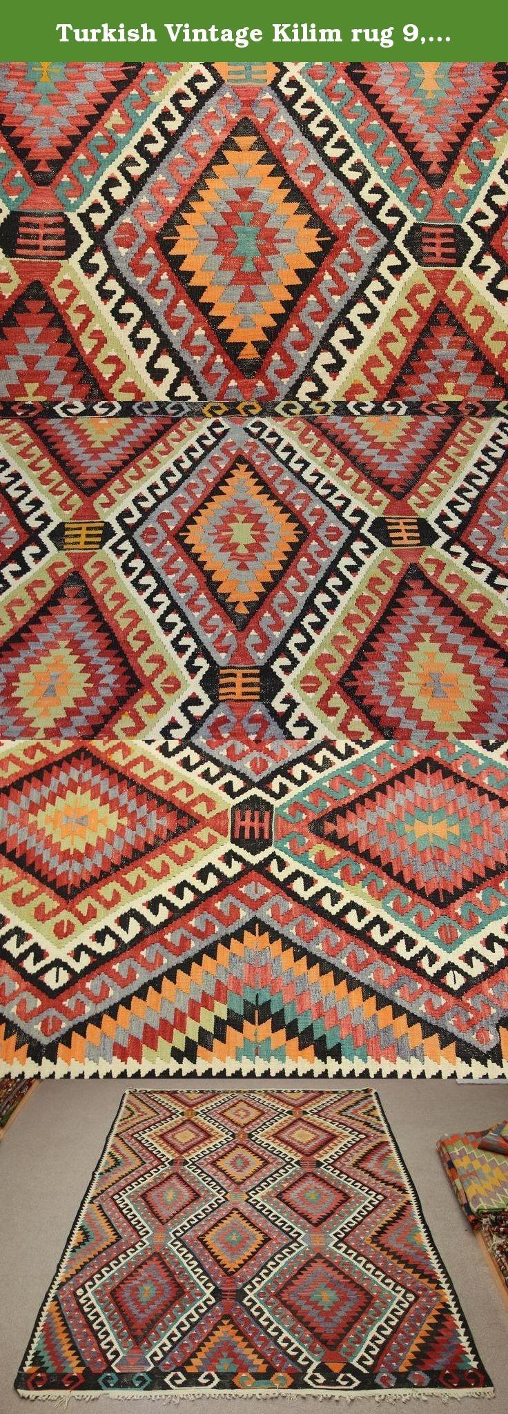 Turkish Vintage Kilim Rug 94×61 Feet Area Rug Room Decor Organic Within Organic Wool Area Rugs (#15 of 15)