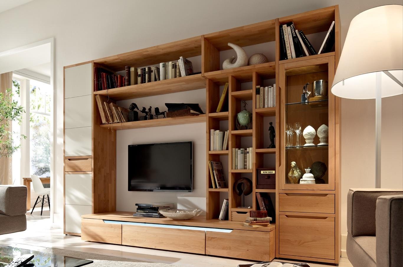 Tv Bookshelves Antevortaco Regarding Bookshelf With Tv Space (#13 of 15)