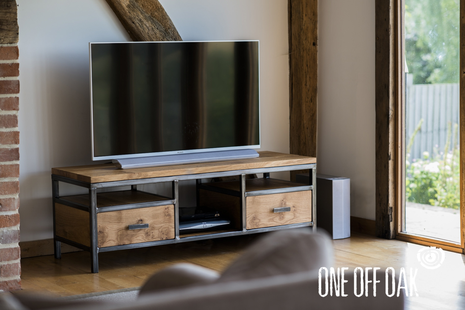Tv Cabinet Bespoke Handmade Furniture From English Oak Within Bespoke Tv Cabinet (View 8 of 15)