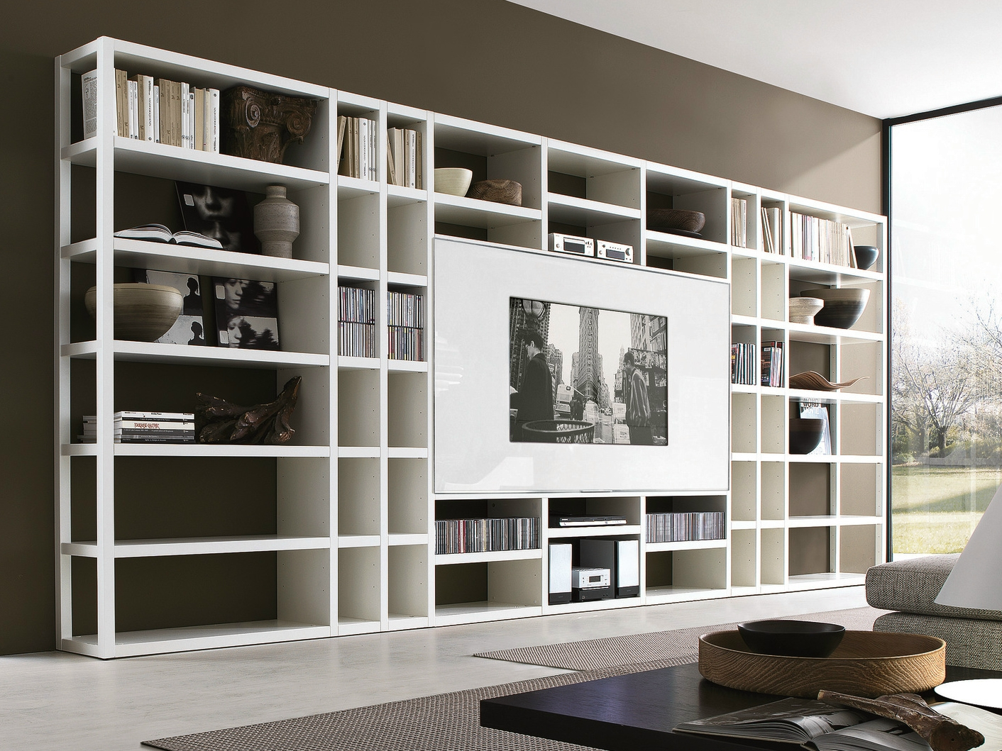 Tv Cabinets Archiproducts Regarding Bookcase With Tv (#14 of 15)