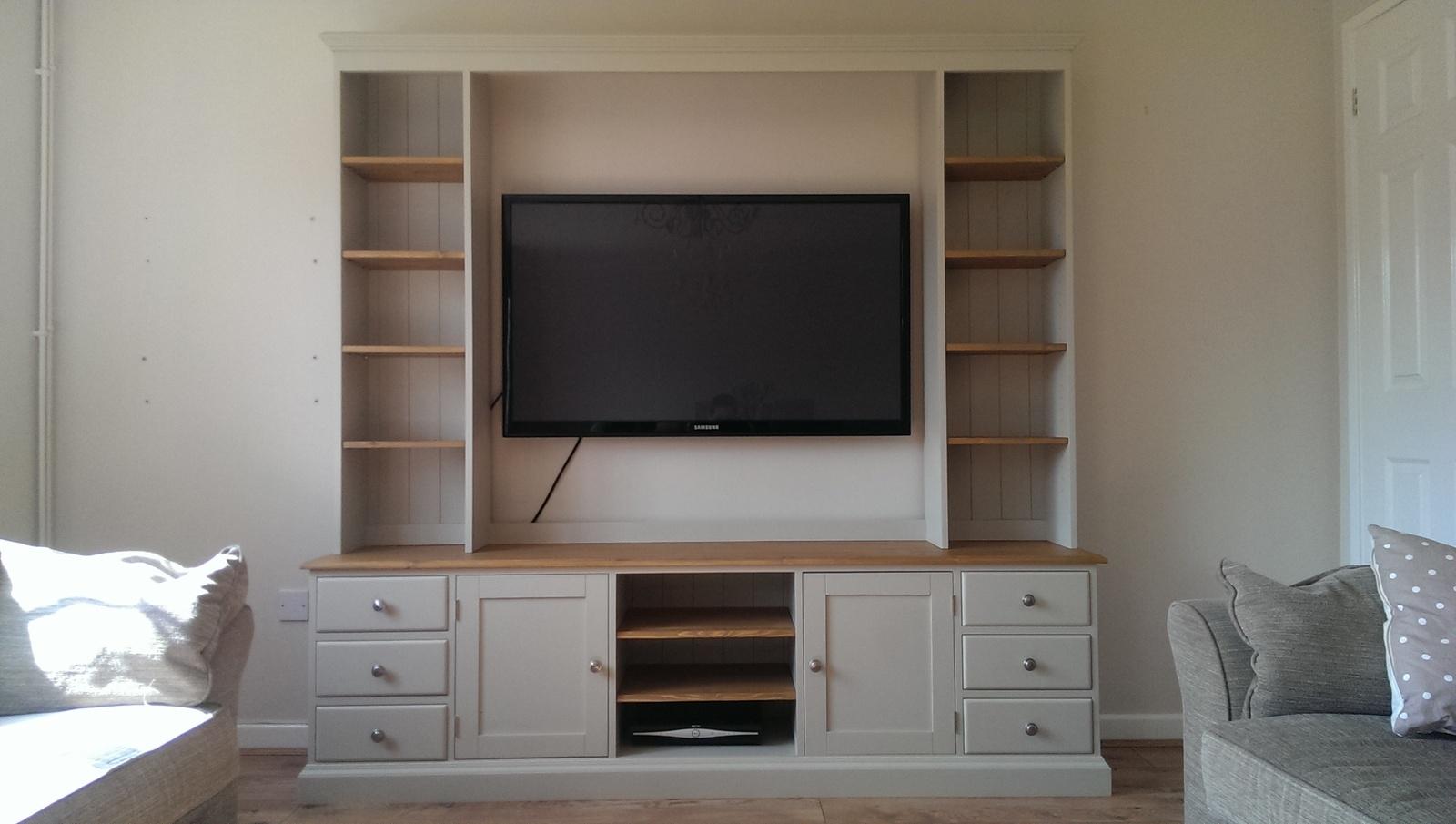 Tv Entertainment Unit Bespoke Living Room Furniture Pine Regarding Bespoke Tv Unit (#15 of 15)