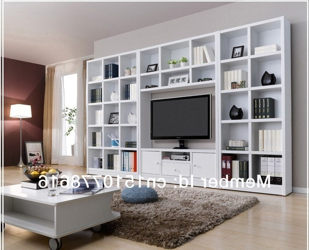 Tv Stand Bookcase Combo American Hwy With Bookcase With Tv (#15 of 15)