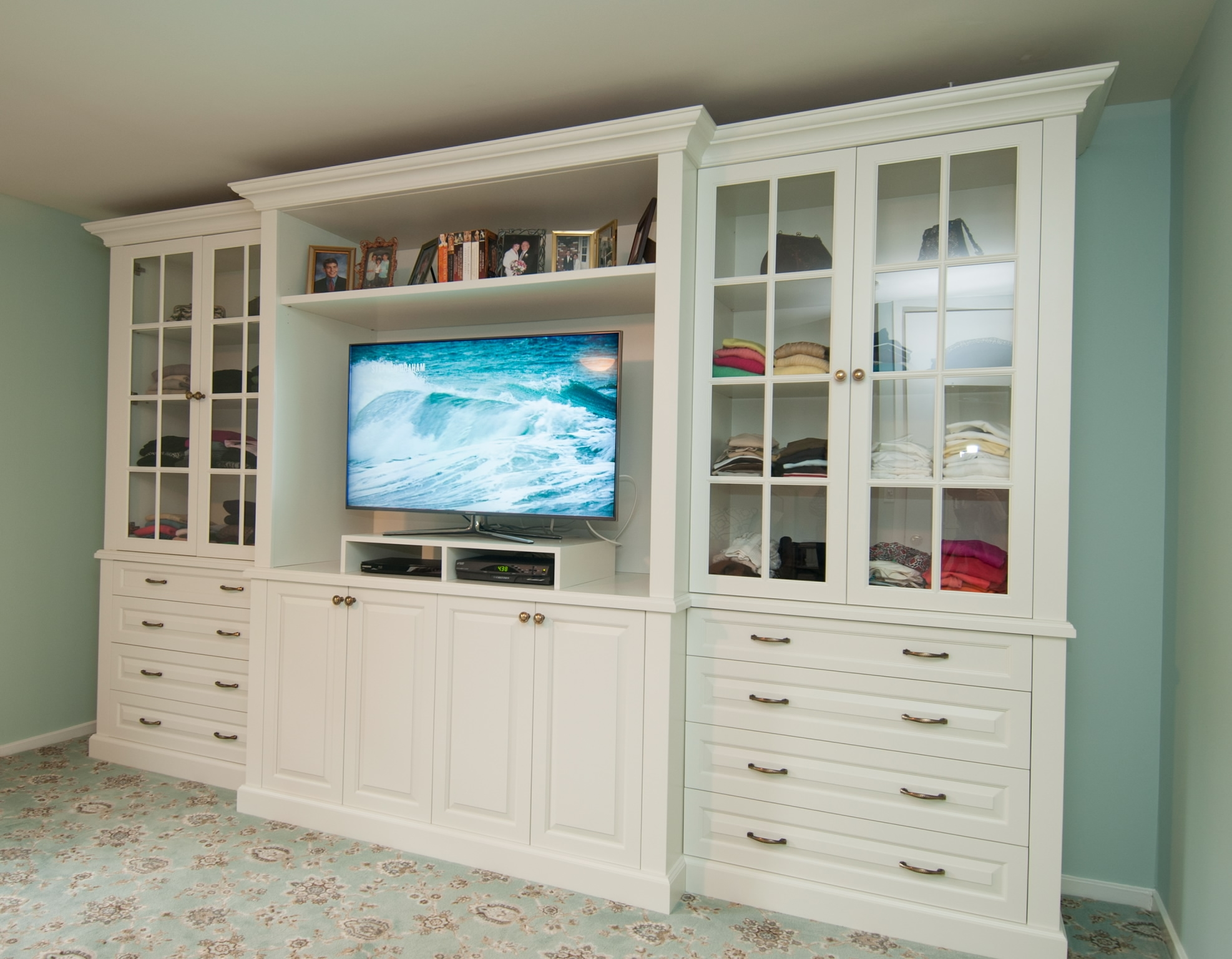 Inspiration About Tv Stand Dresser And Display Shelves Combination Creates Elegant With Regard To