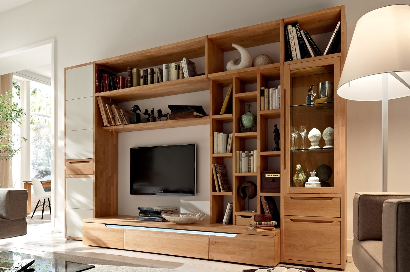Tv Stands 10 Great Design Entertainment Centers With Bookshelves Inside Bookshelf Tv Unit (#12 of 15)