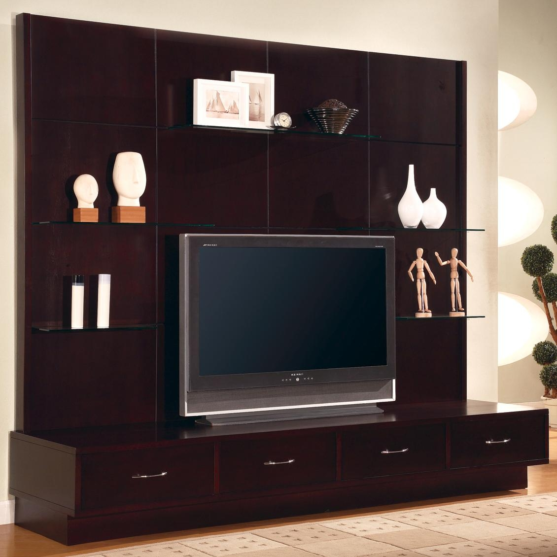 Inspiration About Tv Unit Design For Hall Modern Tv Wall Unit Design Wall  Units Intended For