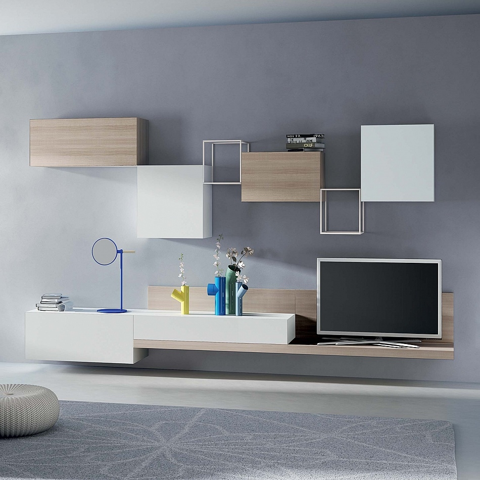 Tv Unit Kube I Santarossa Contemporaryfurniture Regarding Bespoke Tv Stand (#14 of 15)