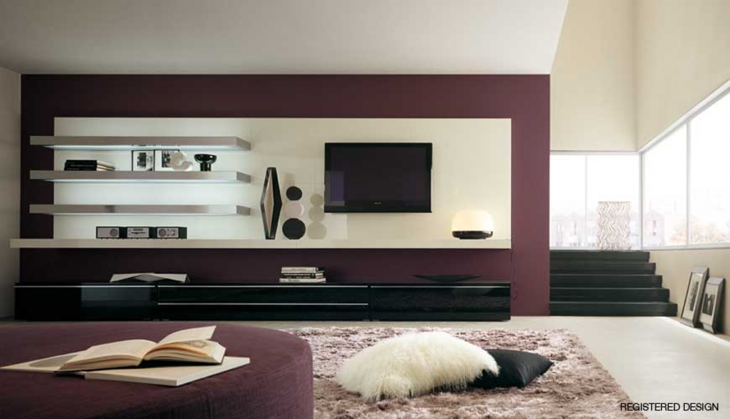 15 best collection of modern tv wall units - Modern tv wall unit designs for living room ...