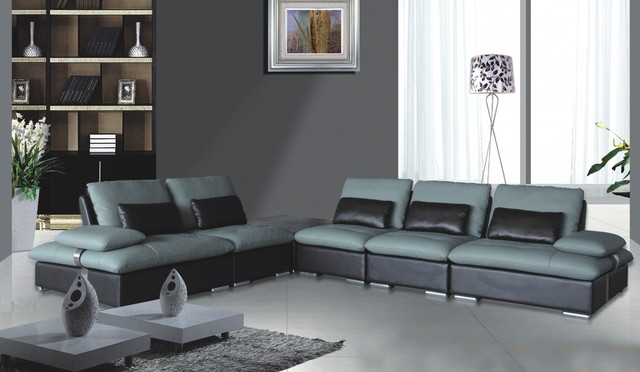 Two Tone Leather Sofa Sanblasferry For Two Tone Sofas (View 12 of 15)