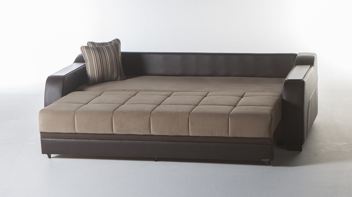 Ultra Lilyum Vizon Convertible Sofa Bed Sunset Pertaining To Convertible Sofa Bed (#14 of 15)