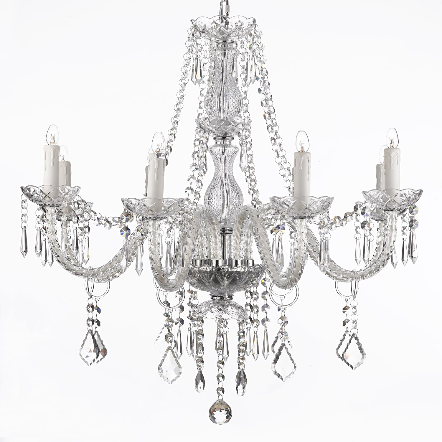 Popular Photo of Silver Chandeliers