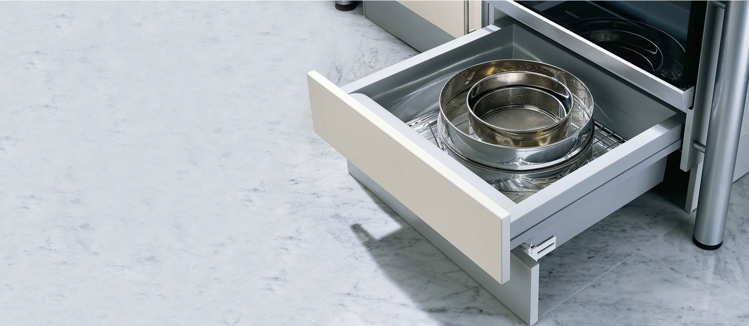 Under Oven Drawer Set With Moulded Plastic Drawer And Runners Within Plinth Drawer (#15 of 15)