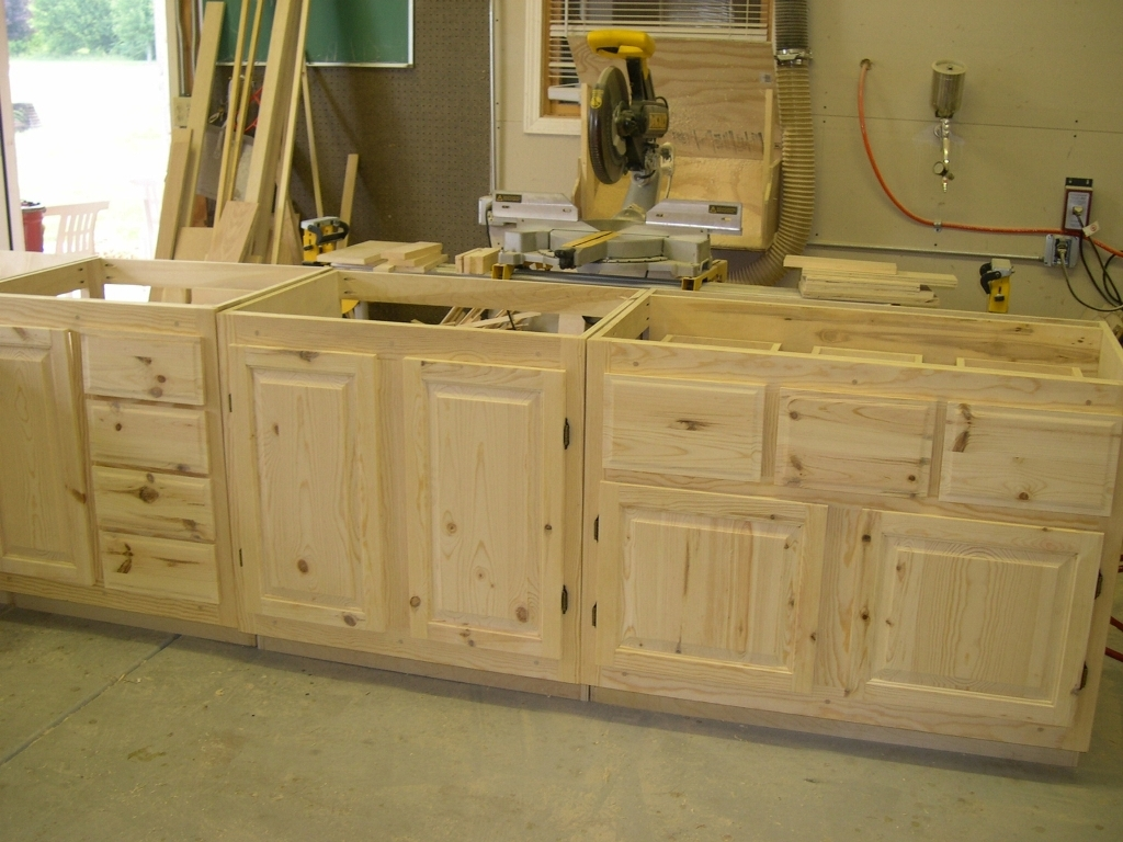 Unfinished Corner Cabinet Pine Creative Cabinets Decoration With Handmade Cupboards (Image 3 of 12)