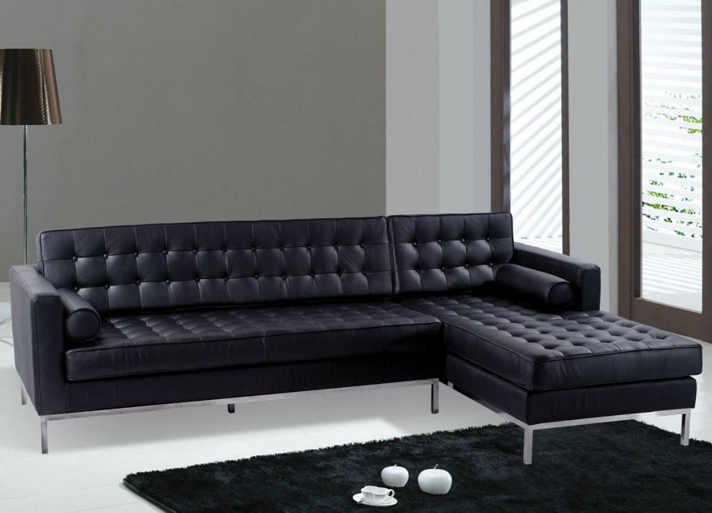 Black Leather Couch Living Room: 15 Ideas Of Contemporary Black Leather Sofas