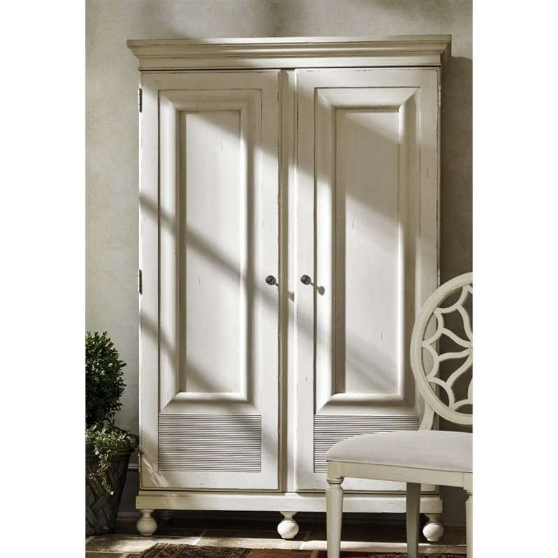 Universal Furniture Sojourn Wardrobe Armoire In Summer White 543a160 With Regard To White Wardrobe Armoire (View 9 of 15)