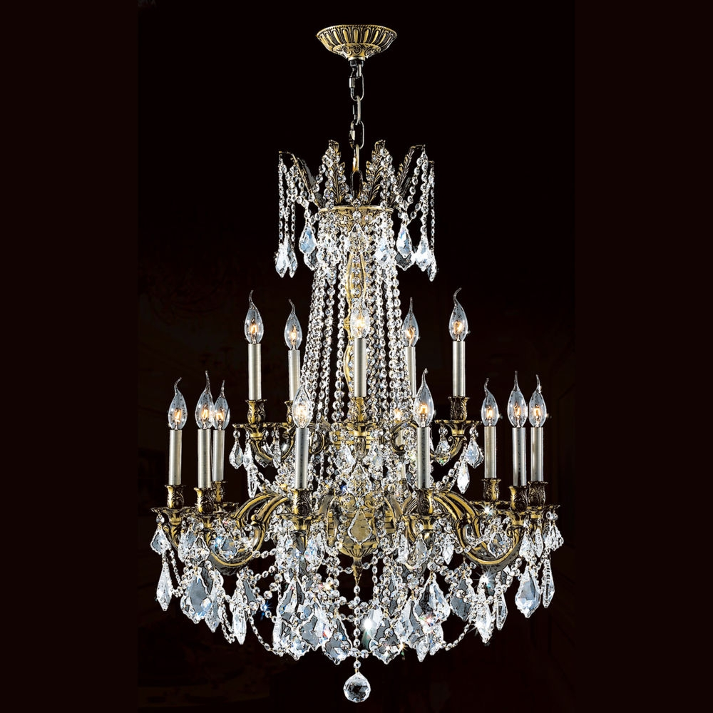 Inspiration about Usa Brand Windsor 15 Light Antique Bronze Crystal Chandelier 28 X Pertaining To Traditional Crystal Chandeliers (#12 of 12)