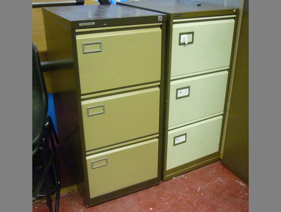 Used Metal Storage Filing Cabinets Lockers Stoarge Cupboards With Regard To Filing Cupboards (#14 of 15)