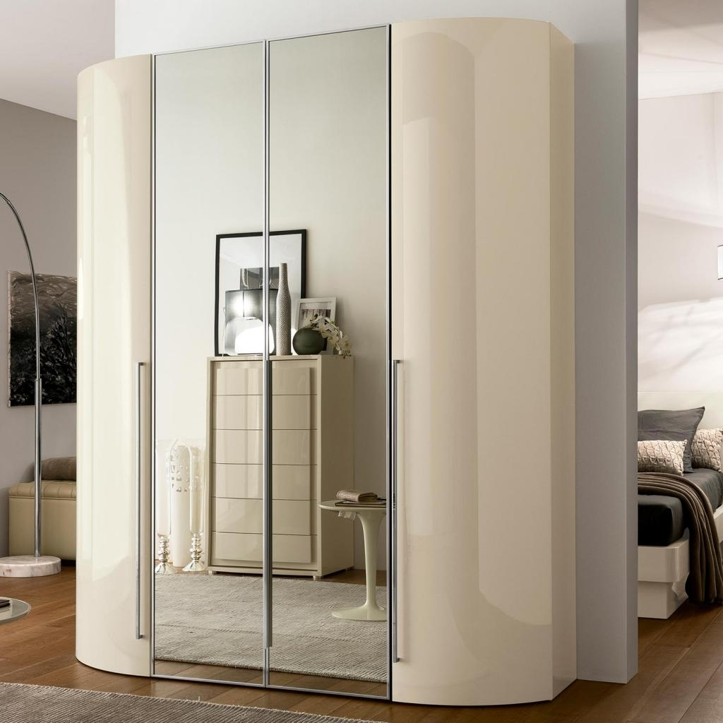 Valdina Curved 4dr Cream High Gloss Wardrobe Ebay Regarding Curved Wardrobe Doors (View 6 of 15)