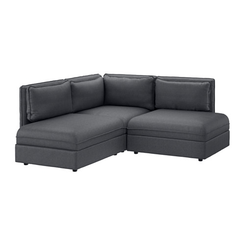 Vallentuna Sectional 2 Seat Hillared Dark Gray Ikea Regarding 2 Seat Sectional Sofas (#15 of 15)