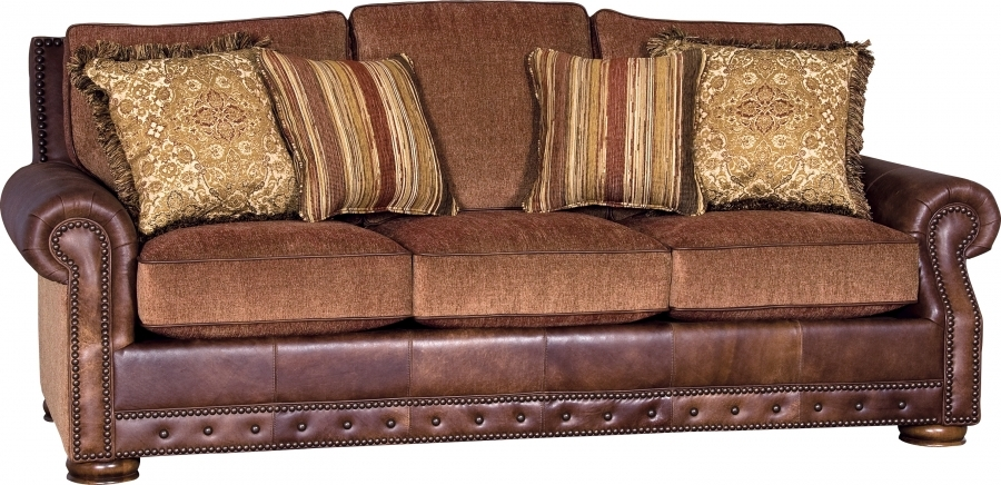 Vanity Brick Leatherfabric Sofa Group Southern Creek Rustic Within Leather And Material Sofas (#15 of 15)