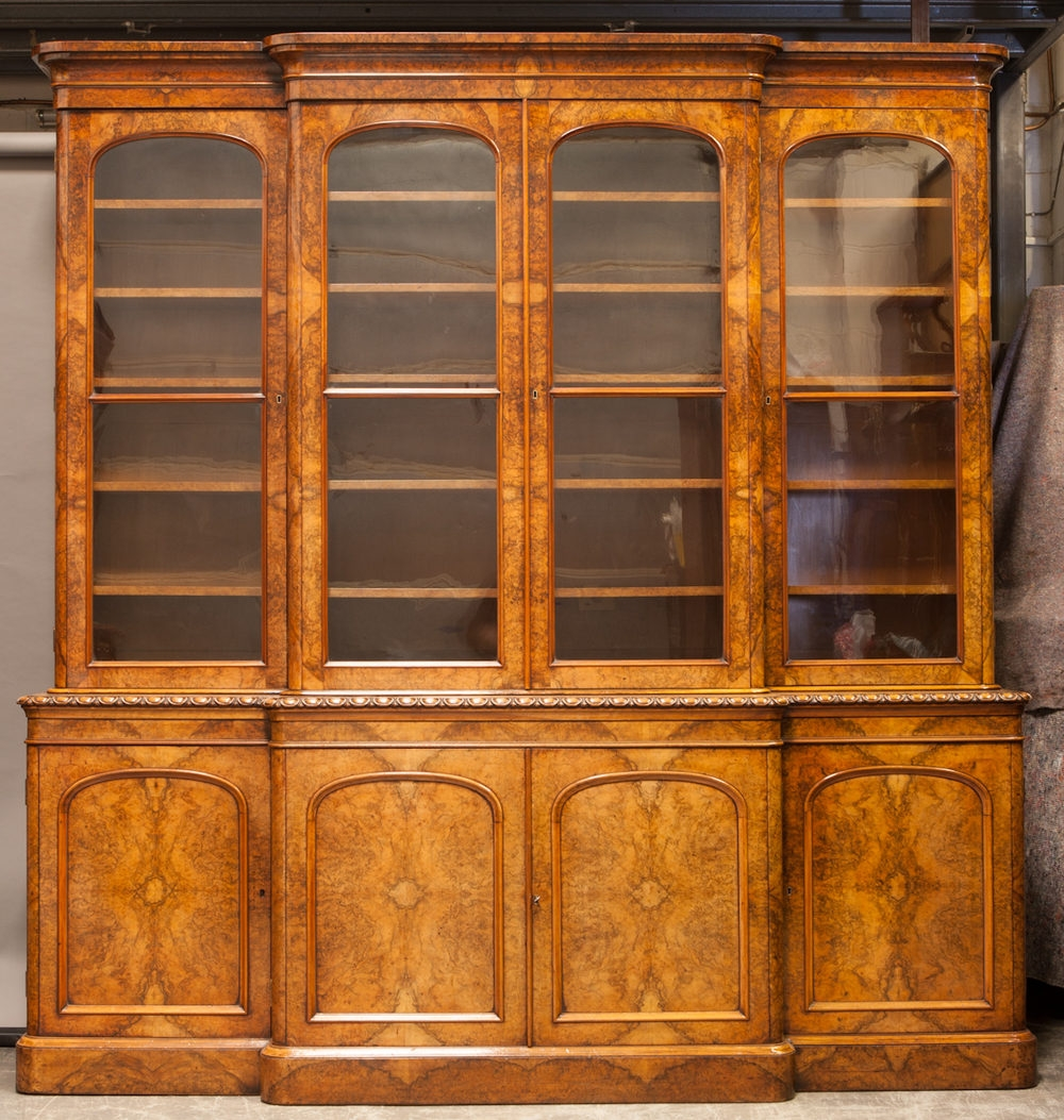 Victorian Breakfront Bookcase Antiques Atlas Pertaining To Break Front Bookcase (#14 of 15)