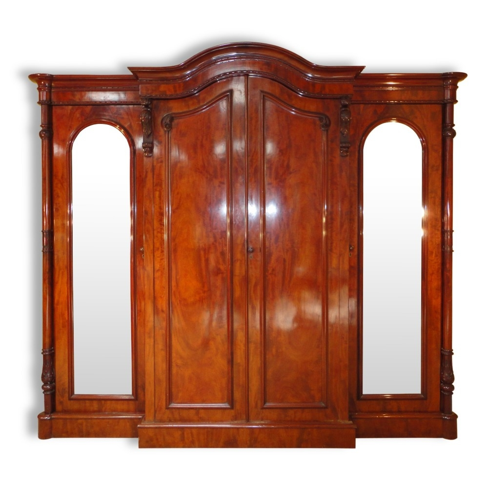 Victorian Mahogany Four Door Breakfront Wardrobe 284017 Within Breakfront Wardrobe (View 13 of 15)