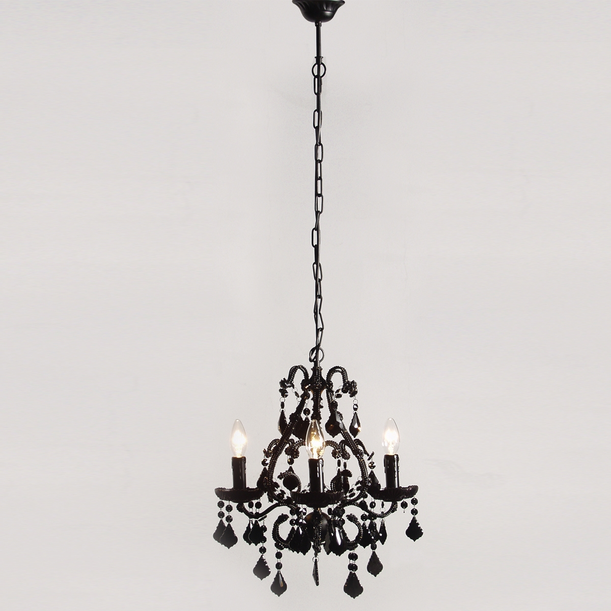 Vintage Black Chandelier For Bedroom Image 4 Courtagerivegauche For Vintage Black Chandelier (#7 of 12)