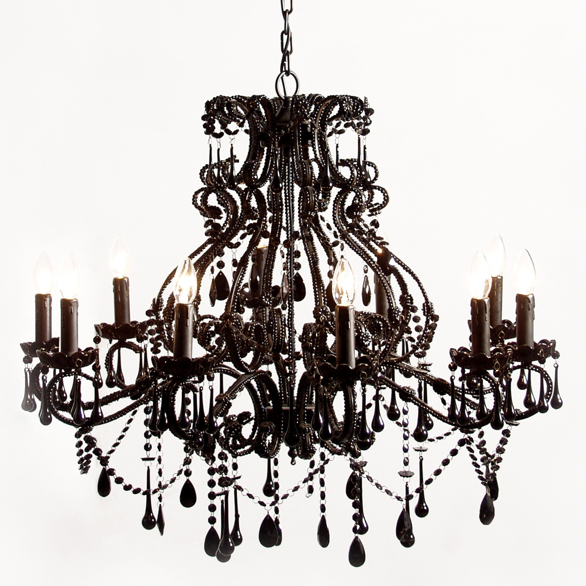 Vintage Black Chandelier For Bedroom Image 4 Courtagerivegauche Throughout Vintage Black Chandelier (#9 of 12)