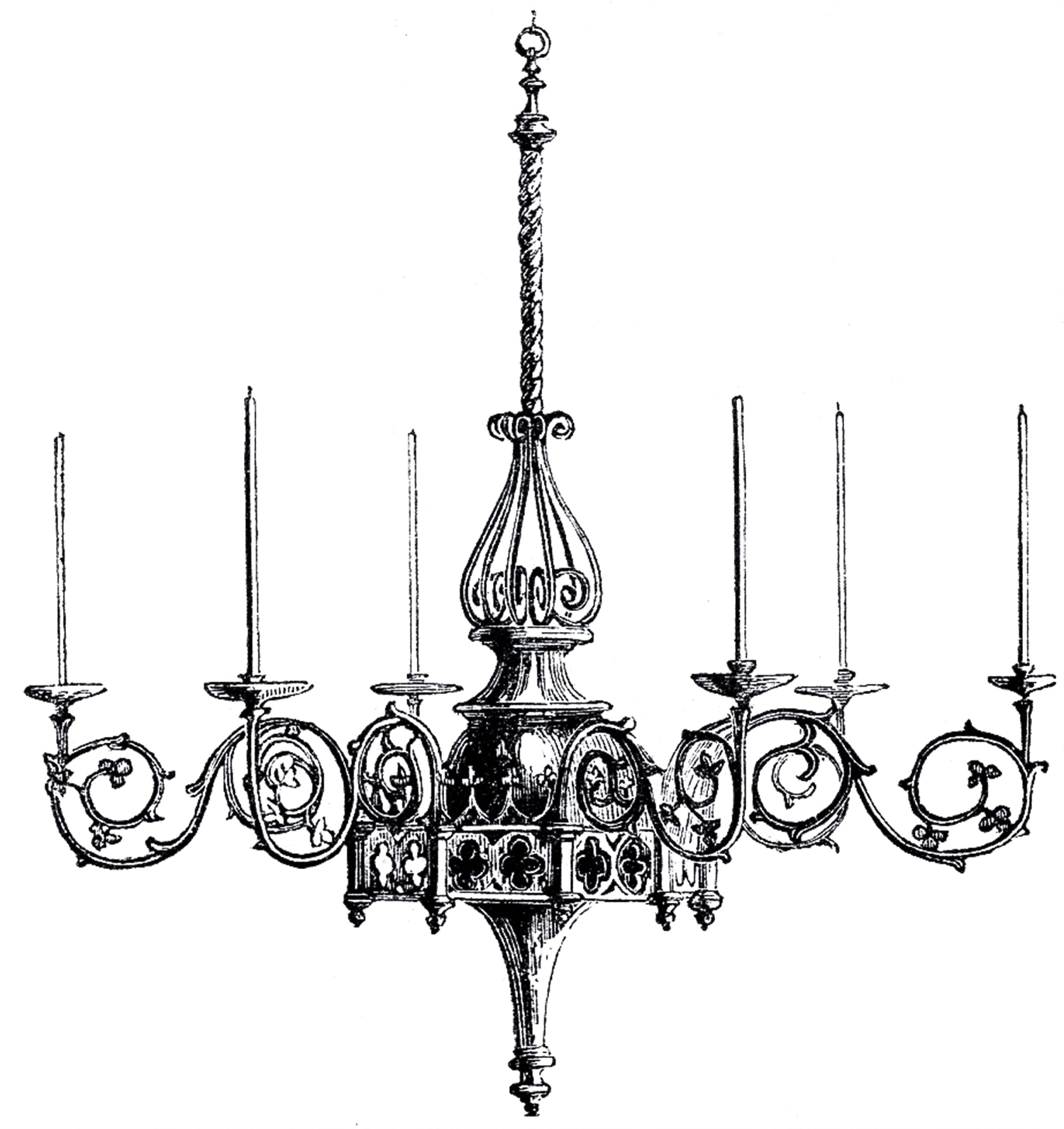 Vintage Gothic Chandelier Image The Graphics Fairy Pertaining To Black Gothic Chandelier (View 4 of 12)